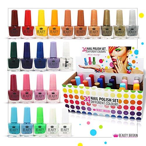 Set di 24 smalti per unghie da 10 ml in differenti colori, 24 nuove tonalità