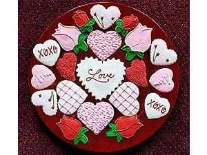 Assorted Valentine's Day Sugar Cookies, 30 Cookies