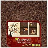 Quartet Cork Tiles, Dark, 12 Inch x 12 Inch, Frameless, 4 Pack (15050Q)