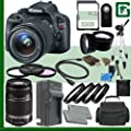 Canon EOS Rebel SL1 Digital SLR Camera Kit with 18-55mm STM Lens and Canon 55-250mm Lens + 32GB Green's Camera Package 2