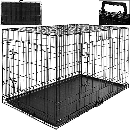 Hundetransportbox-Hundebox-Transportbox-Transportkfig-Gitterbox-107-x-71-x-765cm-Gr-XL