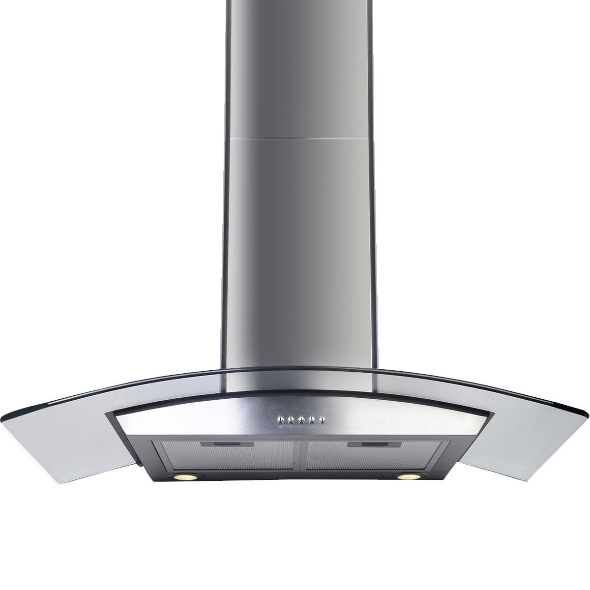 "GHP 36"" Stainless Steel Kitchen Wall Mount Range Hood w Glass Stove Vents"