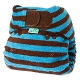 Tots Bots Bamboozle Stretch Stripey nappy, bamboo, aplix size 2 (10-35lbs) Splosh
