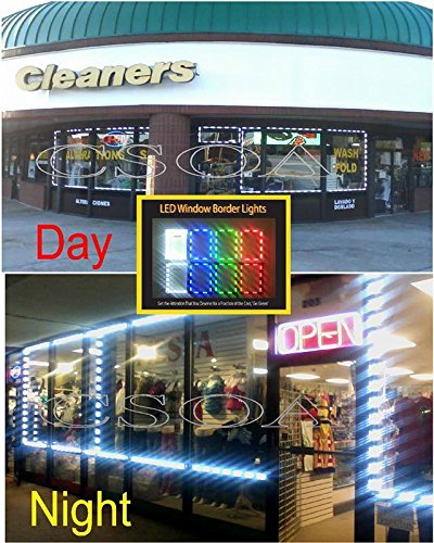50 Feet Led Window Light Border System For Store Fronts