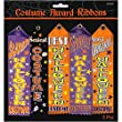 Amscan Halloween Trick or Treat Party Assorted Costume Award Ribbon, Multicolor, 7 1/2\