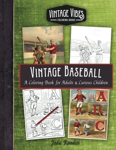 Vintage Baseball Coloring Book
