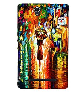 GADGET LOOKS PRINTED BACK COVER FOR Sony Xperia C3 MULTICOLOR