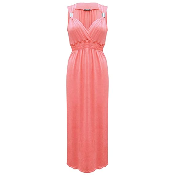 OutofGas Clothing Women's Sleeveless Spring Coil Jersey Stretch Maxi Dress