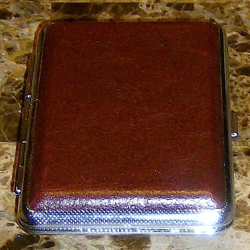 Chocolate Brown Cigarette Case New