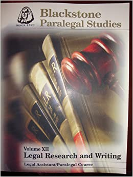 paralegal studies coursework I took the paralegal course and i also understand that the westlaw access is solely for use in completing my center for legal studies, inc course and that i.