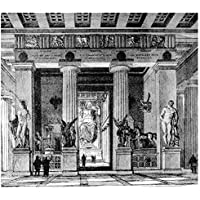 ArtzFolio Victorian Engraving Of The Temple Of Zeus Olympia - Medium Size 22.5 Inch X 20.0 Inch - FRAMED PREMIUM...