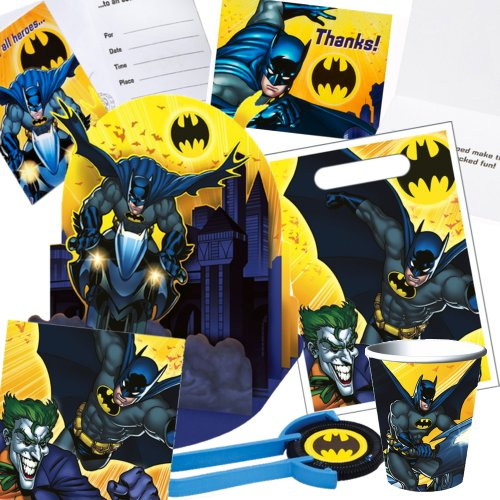 Batman Birthday Party 6-piece Bundle  8 Cups,