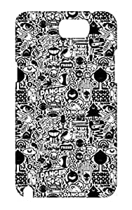 Samsung Galaxy Note 2 Hard Case Back Cover - Printed Designer Cover for Samsung Galaxy Note 2 - SGN2CHKSB141