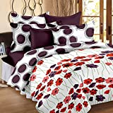 Story@Home Floral Print Premium Cotton Satin Soft And Light Weight Luxury Printed Reversible Single Size Comforter Microfibre filler, Purple