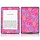 TaylorHe Vinyl Skin Decal for Amazon Kindle Paperwhite Ultra-slim protection for Kindle MADE IN BRITAIN FREE UK DELIVERY Design of Pink Paisley Patterns Retro Style