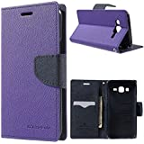 Sparkling Trends Mercury Goospery Fancy Diary Wallet Flip Cover Case For Samsung Galaxy J5 Purple