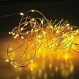Amazon.co.jpMORECOO LEDジュエリーライト 10M電飾 100 LED フェアリーストリングライト 国際防水基準IP44 ソーラー充電 8種類の点滅パターン クリスマス 飾り 結婚式 パーティー 取扱書付き