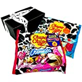 Chupa Chups Cremosa Lollipops 2-Flavor Variety: One 16.93 oz Bag Each of Ice Cream and Yogurt in a BlackTie Box (2 Items Total)