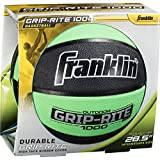 "Franklin Sports Grip-Rite 1000 Intermediate Basketball, 28.5"", 28.5""/Green/Black"