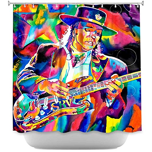 DiaNoche Designs Shower Curtains by Artist David Lloyd Glover Unique, Cool, Fun, Funky, Stylish, Decorative Home Decor and Bathroom Ideas - Stevie Ray Vaughan