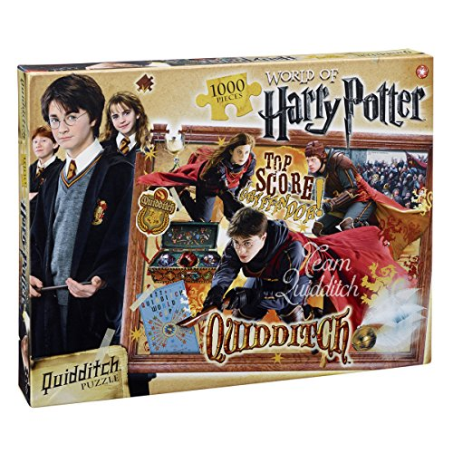 Winning Moves 022590 - Puzzle Puzzle 1000 Pezzi Harry Potter Quidditch, Versione Italiana