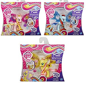 My Little Pony Cutie Mark Magic Friendship Charm Set of 3 - Fluttershy, Honey Rays & Rainbow Dash
