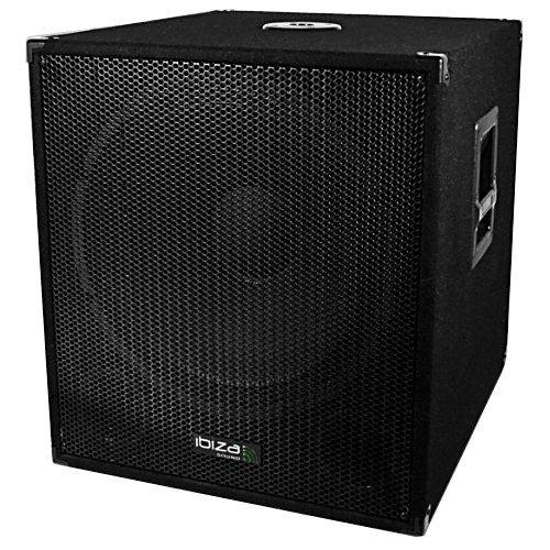 caisson bi amplifi 1200w ibiza sound cube1815solo haut parleurs subwoofer. Black Bedroom Furniture Sets. Home Design Ideas