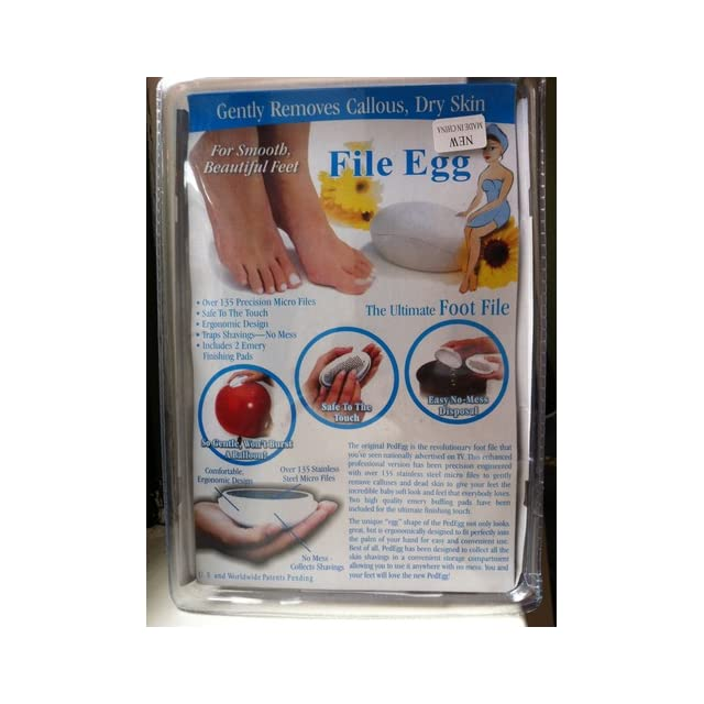 Ped Egg Pedicure Foot File, Colors may vary