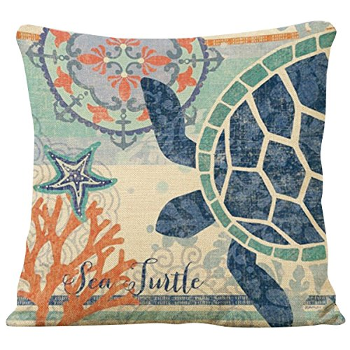 Sea Turtle Pillow <strong>Cover</strong>18 x 18 Inches<strong>PILLOW NOT INCLUDED</strong>