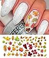 "Autumn - Fall Leaves Water Slide Nail Art Decals Set #2 - Salon Quality 5.5"" X 3"" Sheet!"
