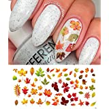 "Autumn Fall Leaves Water Slide Nail Art Decals Set #2 Salon Quality 5.5"" X 3"" Sheet!"
