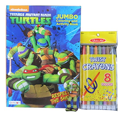 TMNT Jumbo Coloring and Activity Book, 3D Puzzle Eraser, and Studio Art Twist Crayons