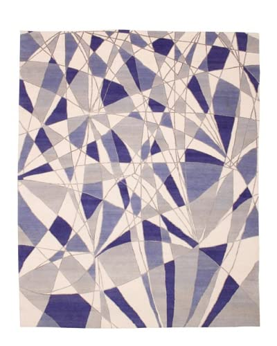 Campion Platt Reflections Rug, Taupe/Blue Multi, 8′ x 10′