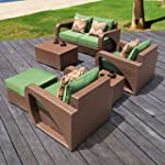 6PC OUTDOOR WICKER SEATING SET BY SIRIO