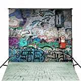 5x6.5ft Graffiti Wall Background No Wrinkles Studio Background For Children Backdrops gc-1385