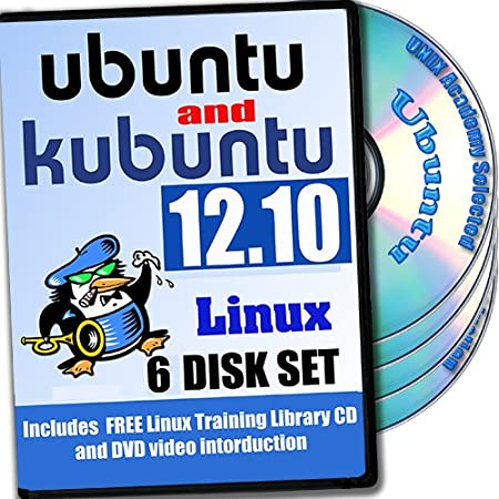 Ubuntu and Kubuntu Linux 12.10, 6-discs DVD Installation and Reference Set, Ed.2012