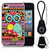 Oksobuy® -The New Apple Iphone 4/4s Aztec Style and Maya Style Background with Colorful Cute Fashion Owl Case Cover Skin Protection for the Iphone 4/4s (White)-0317 Amazon.com