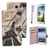 Seasonwind litchi Handyh�lle mit Kartentaschen f�r Samsung S3 9300 mit kostenloser Stift und kostenlosem Handyfolie (Brief)