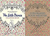 Image of The Little Prince (Petit Prince Coloriages pour mediter) Coloring Book Package - one in French and one in English (French Edition)
