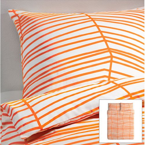 Beautiful orange bedding for Housse couette ikea