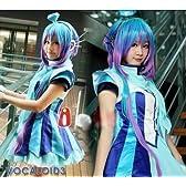 コスプレ衣装♪VOCALOID3 初音ミク MIKU ♪ 公式服 蒼姫ラピス