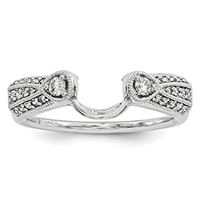 14ct White Gold Diamond Ring Wrap