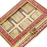 Ghasitaram Gifts Diwali Gifts Chocolates- Red 6 Pcs Metal Box