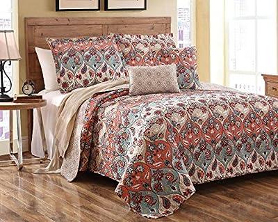 DaDa 3 Piece Multi Floral Garden Party Quilt Set,
