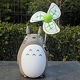 Totoro Fan Desktop Decoration Desk Ornaments Portable Mini Cartoon Small Fan Large Wind Office (9)