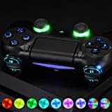 eXtremeRate Multi-Colors Luminated D-pad Thumbstick L1 R1 R2 L2 Home Face Buttons DTFS (DTF 2.0) LED Kit for PS4 CUH-ZCT2 Controller with Classical Symbols Buttons - 10 Colors Modes 7 Areas DIY Option (Color: Multi-Colors DTFS LED Kit (2))