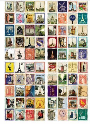 Paris Booklet Stamps for Kids,80 Stamps
