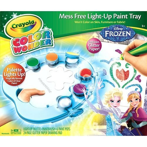 Crayola Disney Frozen Color Wonder Frozen Mess Free Light ...