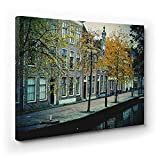 Amsterdam Canal Canvas Art Print - Cities & Places Of The World - 122cm X 92cm