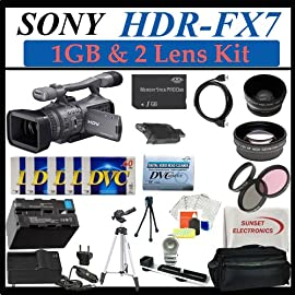 Sony HDR-FX7 3cmos HDV 1080i Camcorder + Complete Lens, Battery & Tripod Accessories Package (Everything you Need)